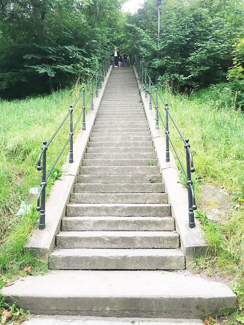 Miradores de Gotemburgo - Suecia - Skansen Kronan - Escaleras