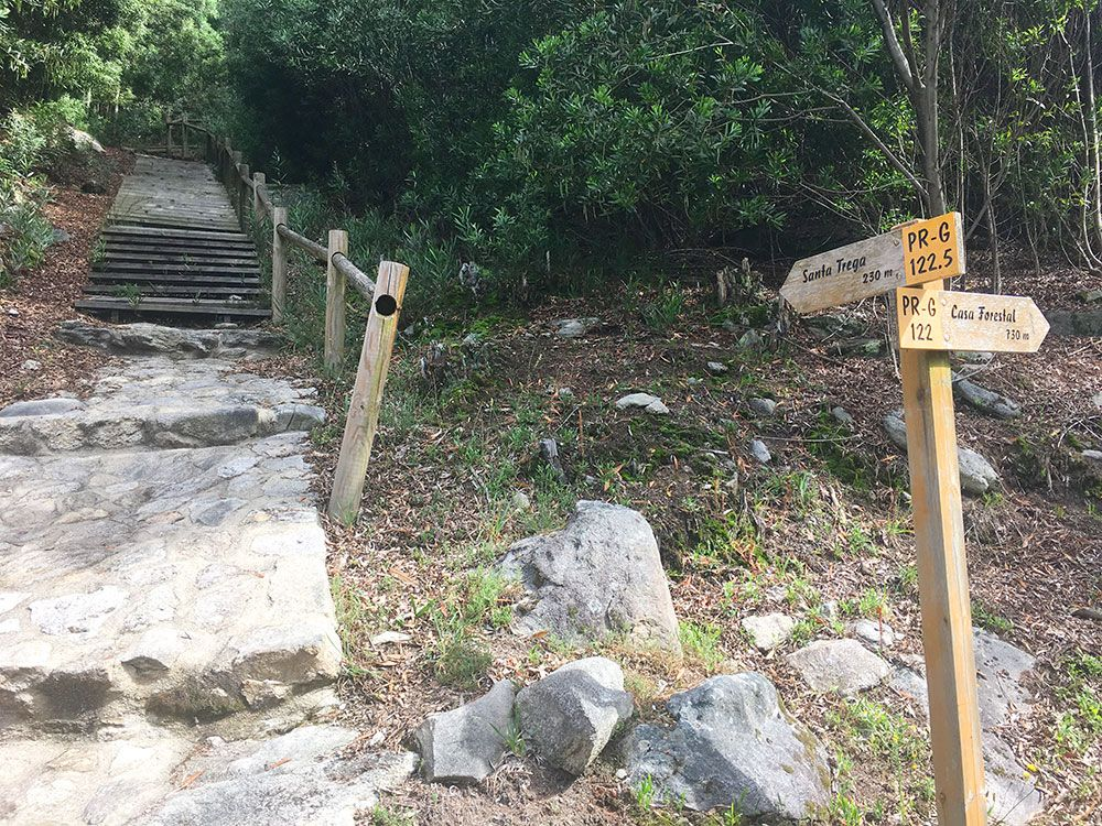 Monte de Santa Tecla - A Guardia - Señalización