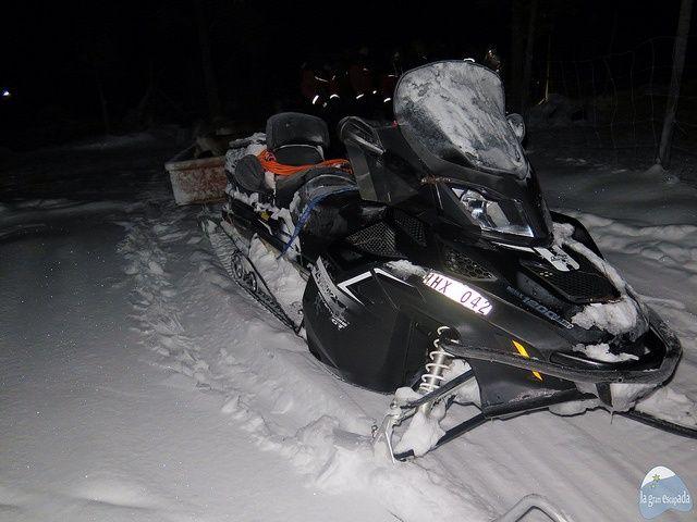 Moto de nieve utilizada en la experiencia con el pueblo Sami