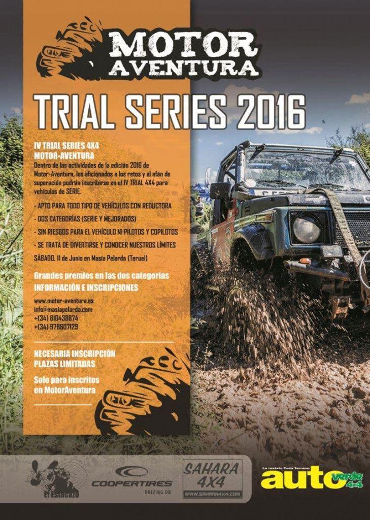 Cartel de la prueba Trial Series del Motor Aventura 2016