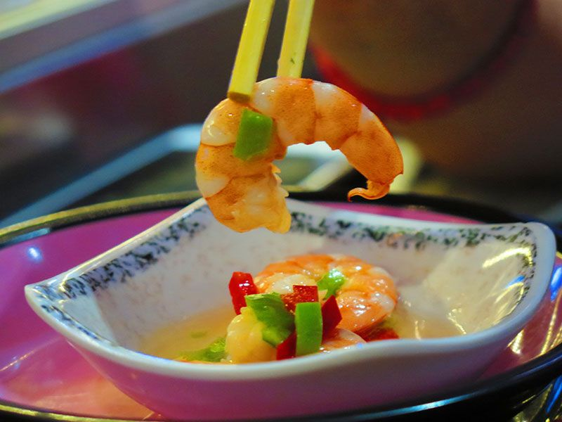 Ninja Sushi Running - Restaurante japonés en Las Rozas - Madrid - Ensalada de gambitas