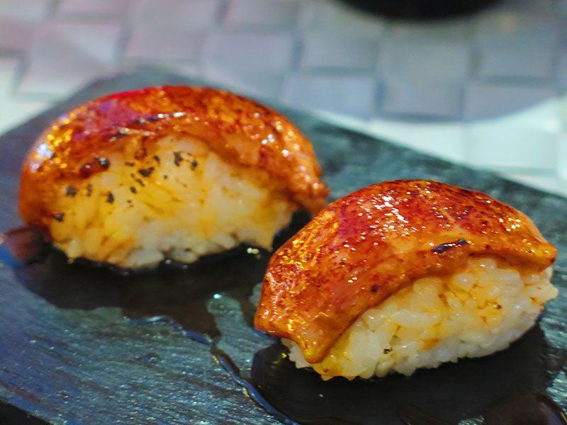 Ninja Sushi Running - Restaurante japonés en Las Rozas - Madrid - Niguiri de foie