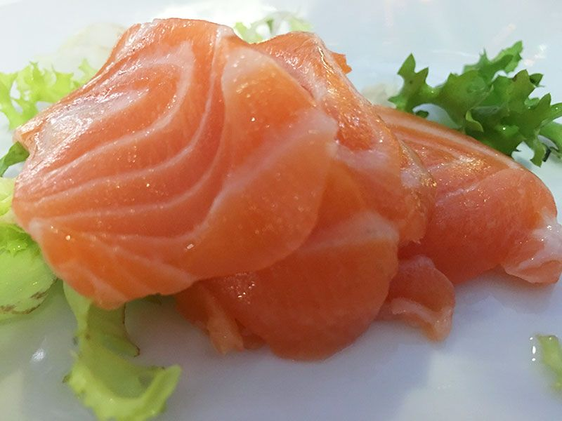 Ninja Sushi Running - Restaurante japonés en Las Rozas - Madrid - Sashimi de salmón