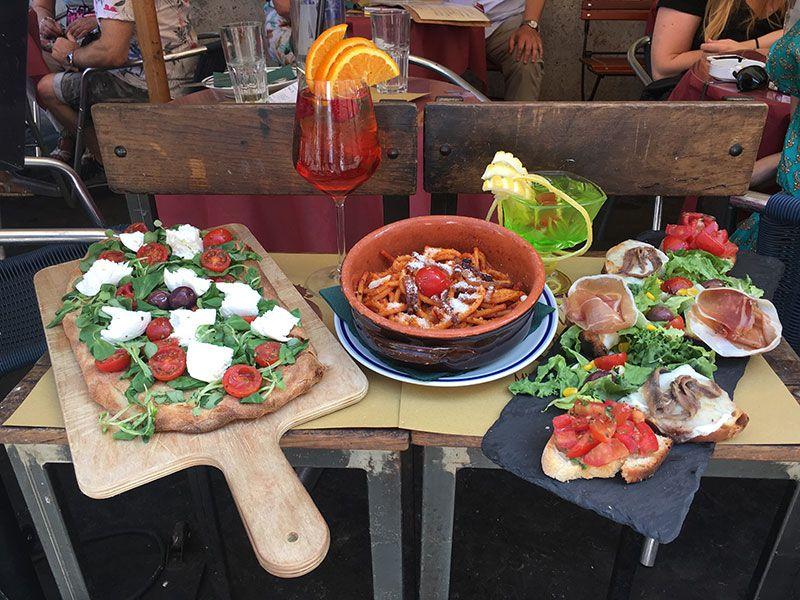 Ombre Rosse - Restaurante en Trastevere - Roma - Mesita de muestra