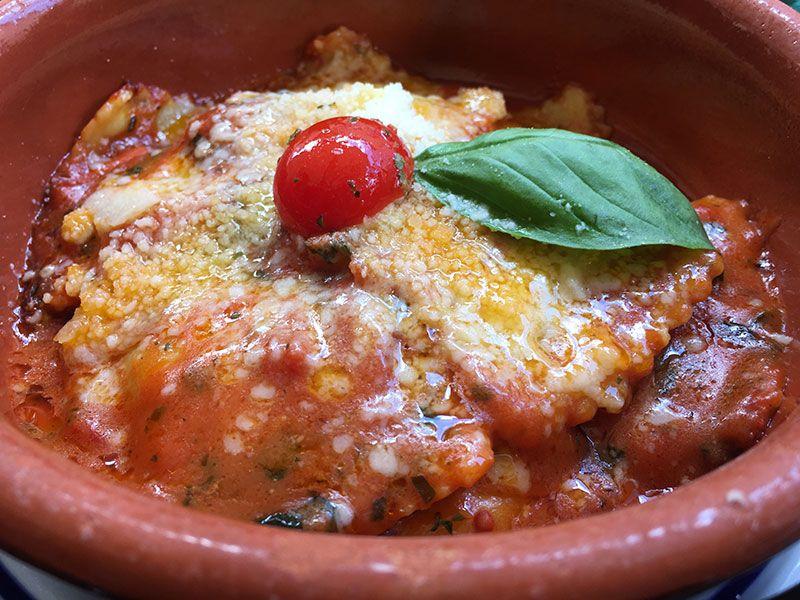 Ombre Rosse - Restaurante en Trastevere - Roma - Ravioli de espinacas