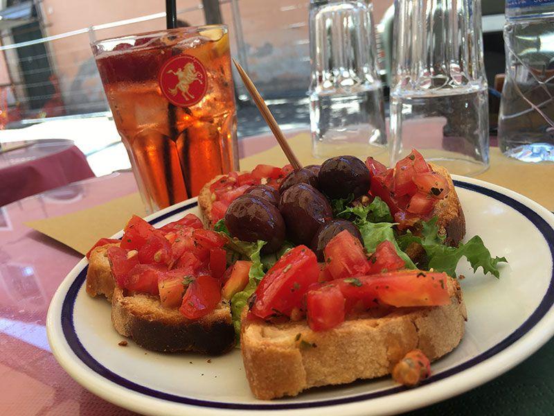 Ombre Rosse - Restaurante en Trastevere - Roma - Aperitivo
