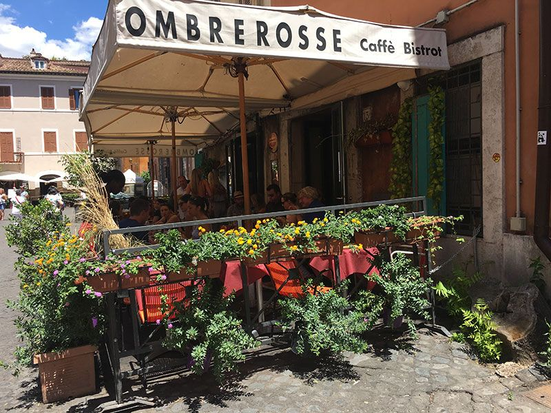 Ombre Rosse - Restaurante en Trastevere - Roma - Terraza