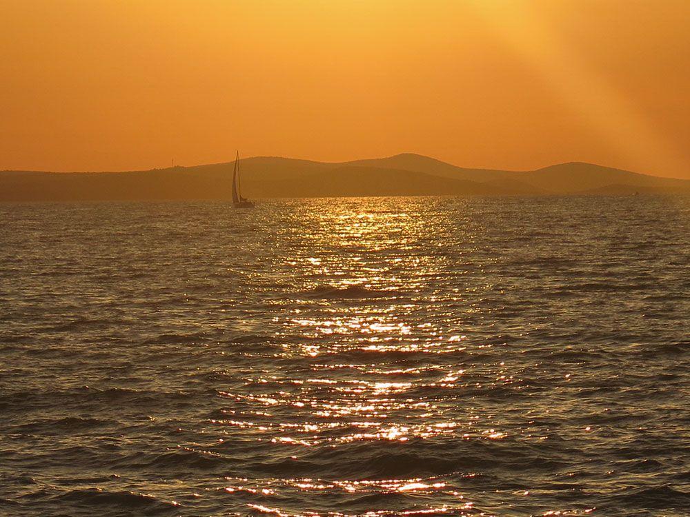 Atardecer desde el Órgano del Mar de Zadar