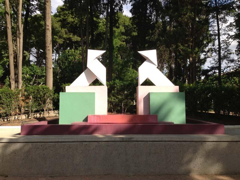 Pajaritas de Ramón Acín del Parque de Miguel Servet