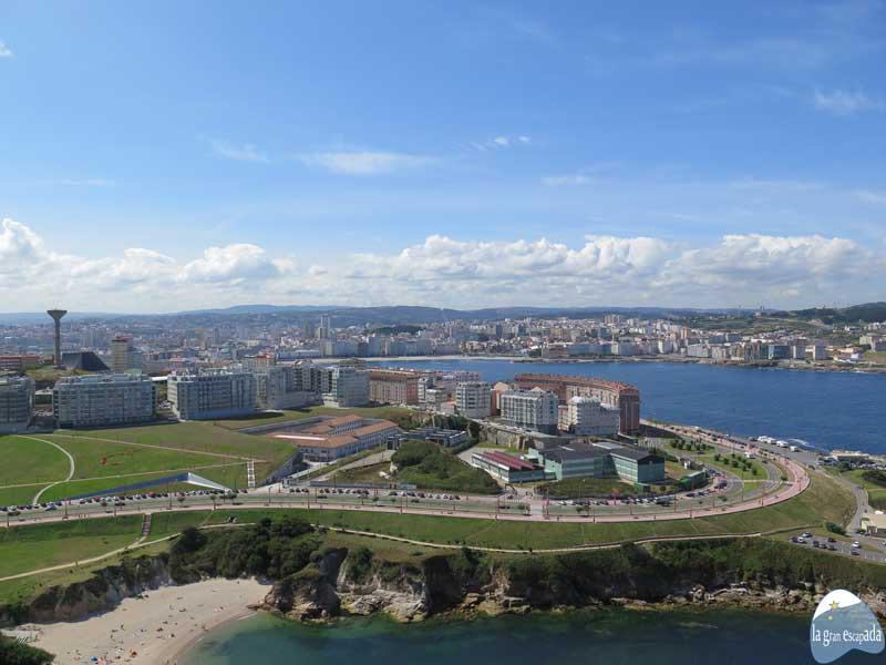 Vista global de la ciudad de A Coruña