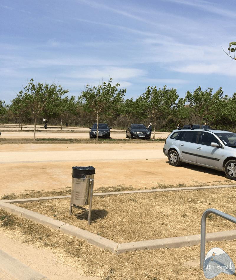 Parking gratuito del mirador de aviones del Prat de Llobregat