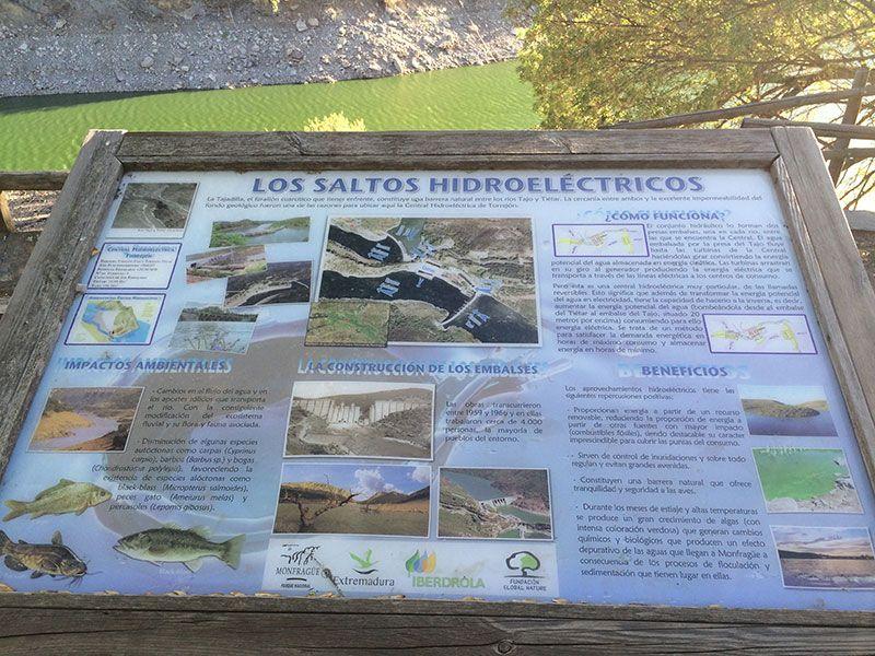 Parque Nacional de Monfragüe - Saltos hidroeléctricos en el Mirador de La Tajadilla