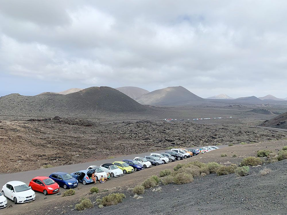 Parque Nacional de Timanfaya - Lanzarote - Parking