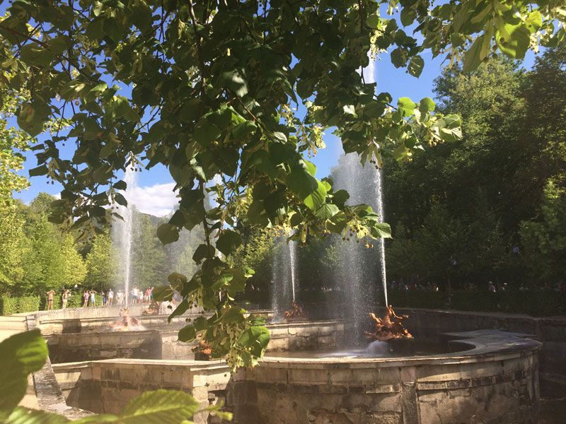 Parte de la fuente de La Carrera de Caballos - Fuentes de La Granja