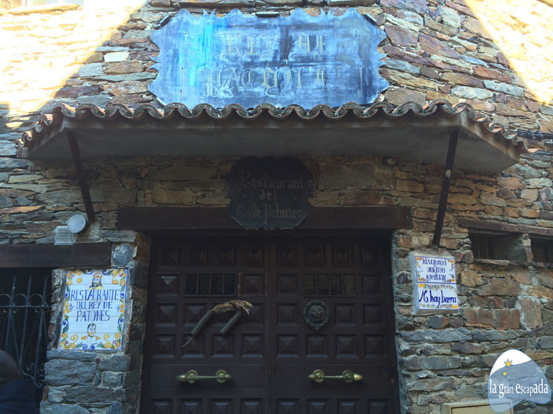 Restaurante Del Rey de Patones en Patones de Arriba