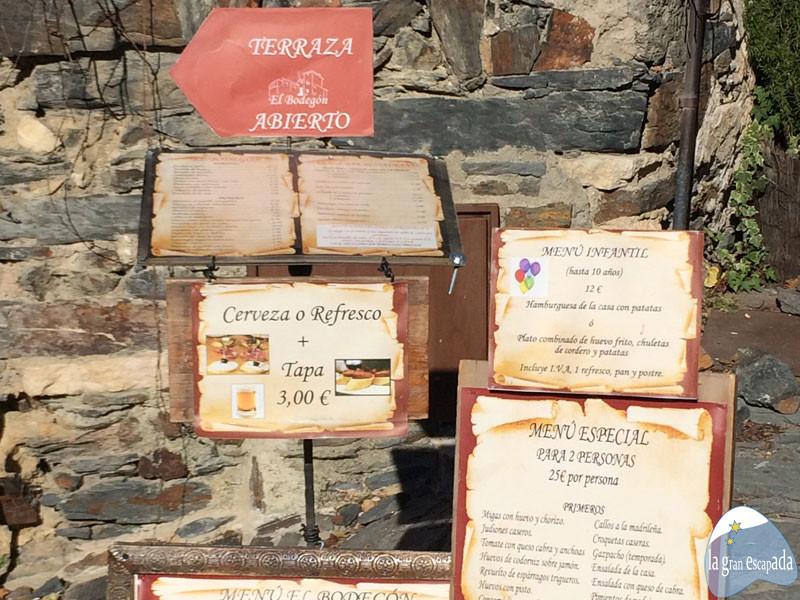 Restaurante El Bodegón en Patones de Arriba