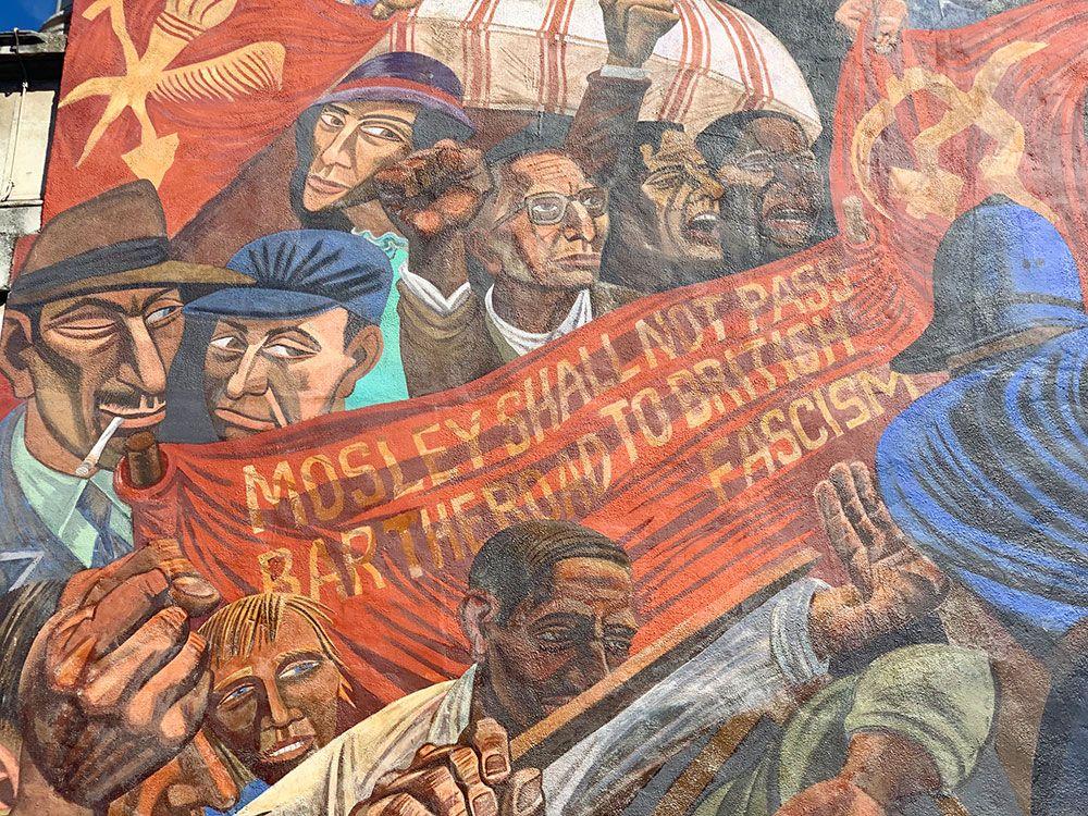 Pancarta del Cable Street Mural