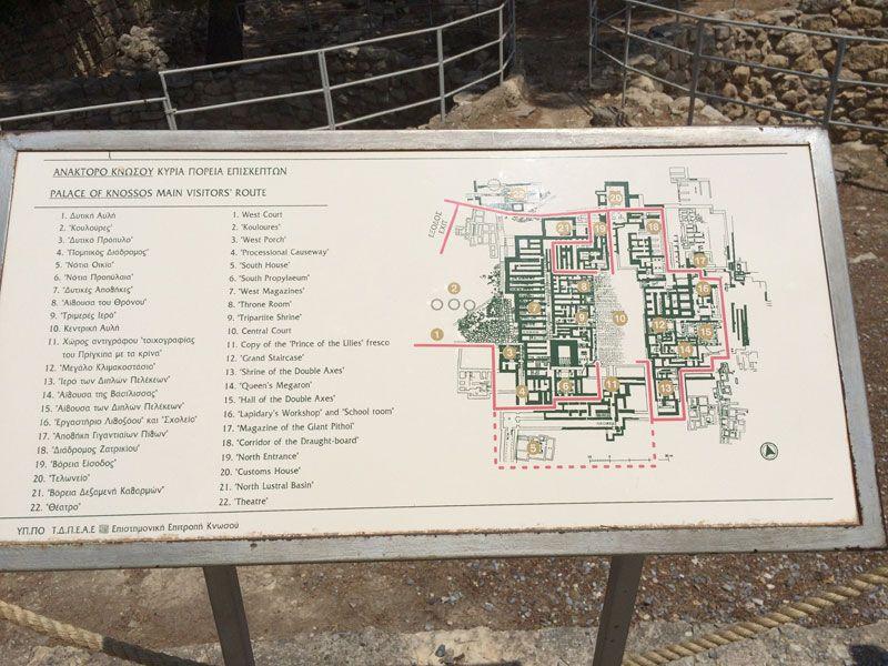 Palacio de Knossos - Plano del Palacio de Knossos