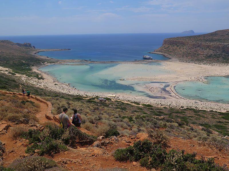 Camino de bajada andando hasta la Playa de Balos