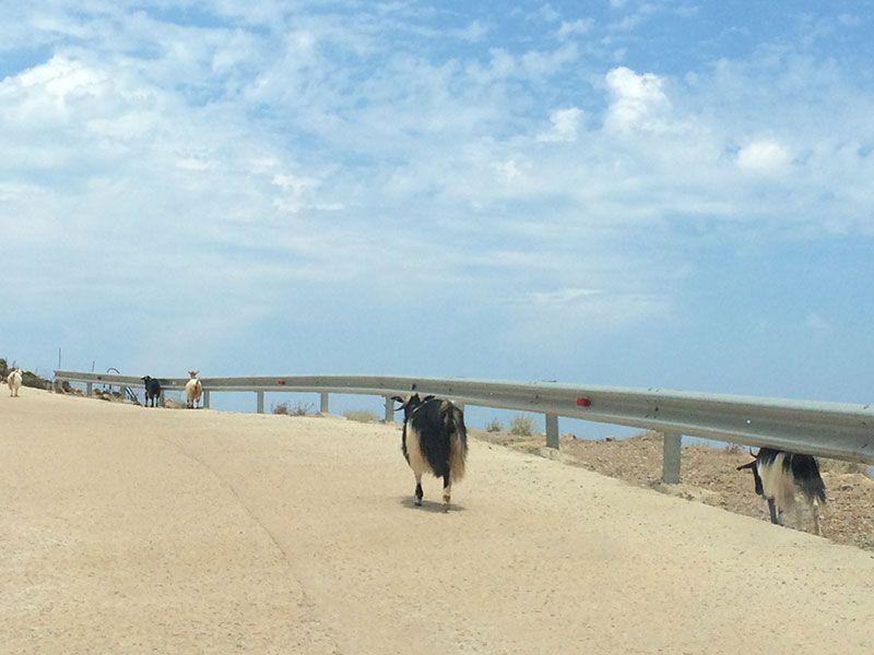 Carretera para llegar a la Playa de Balos.
