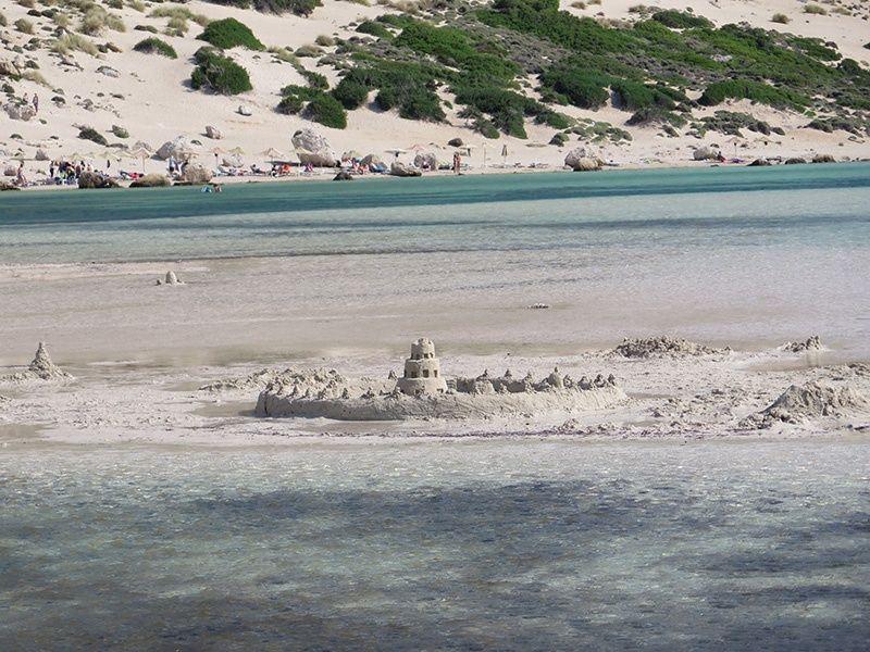 Playa de Balos. Castillo en la arena