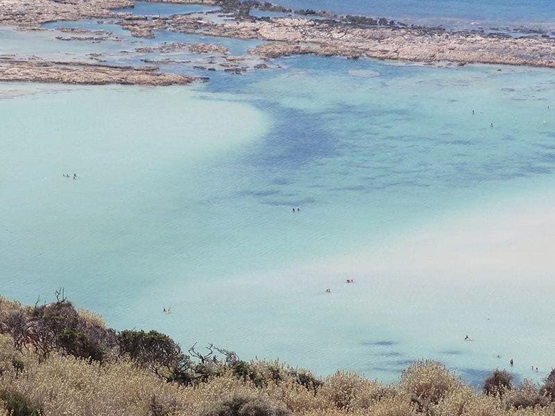 Playa de Balos. Vistas de la laguna