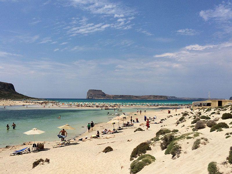 Playa de Balos cuando llegas al final del camino empedrado.