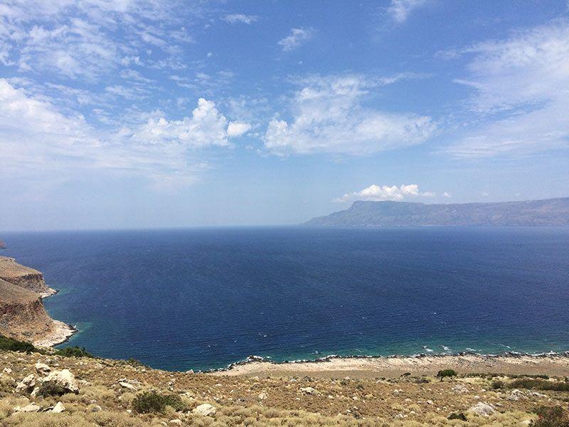 Playa de Balos - Creta. Vistas desde la carretera