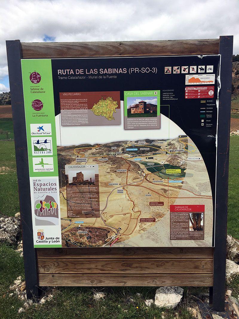 Pueblo medieval de Calatañazor - Soria - Rutas de senderismo por El Sabinar