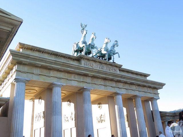 Puerta de Branderburgo del Parque Europa Madrid