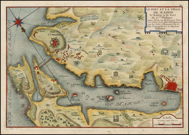 Puerto de Mahón - Paris - 1705