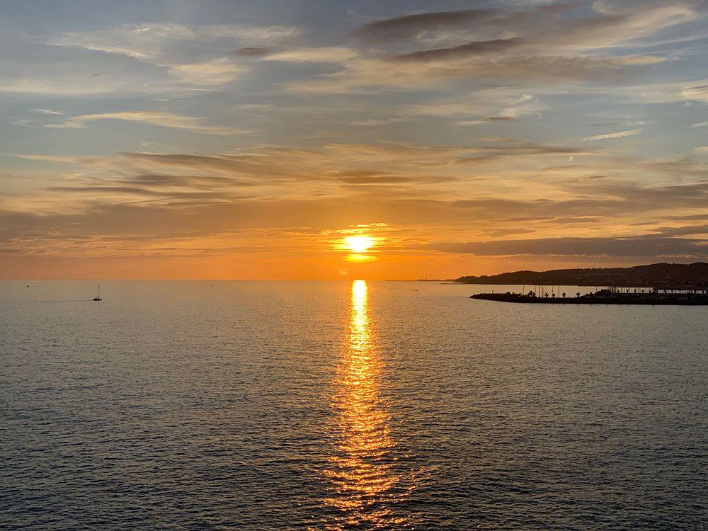Puesta de sol desde Garraf
