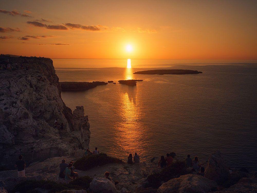 Puesta de sol en Menorca