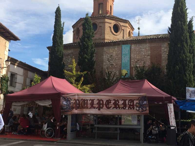 Pulpería en la Plaza de Cervantes del Mercado Medieval de Alcalá de Henares