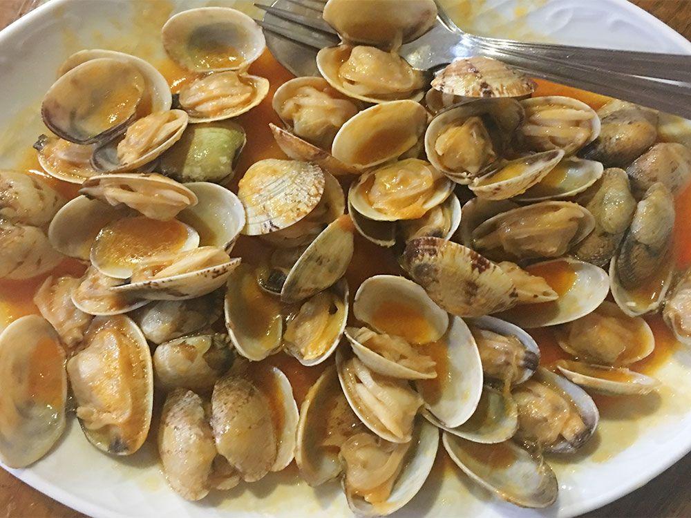 Qué y dónde comer en Galicia - Almejas