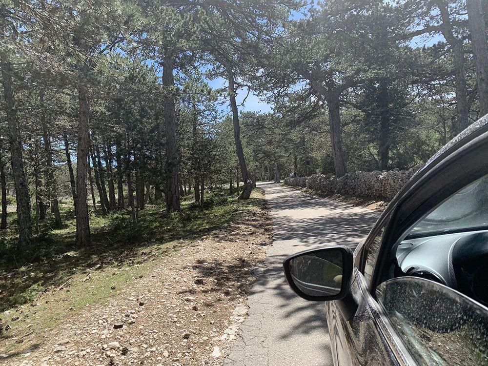 Carreterita para llegar al Monte Vidova Gora