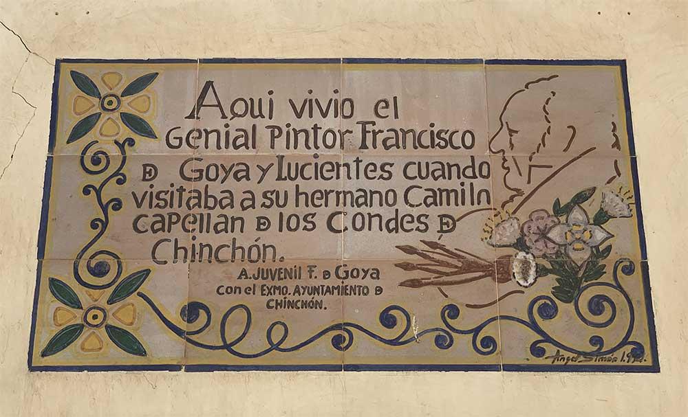 Goya vivió varios años en Chinchón