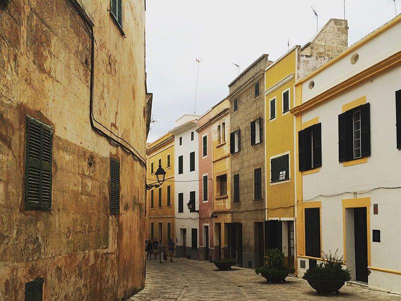 Calles del centro histórico de la Ciutadella