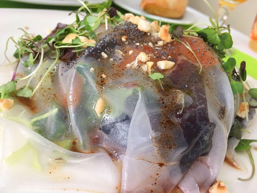 Qué ver en Consuegra - Restaurante El Retorno - Ensalada de salmón