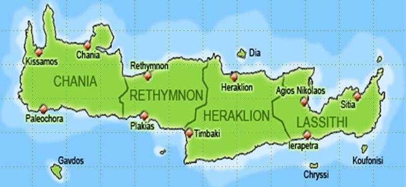Qué ver en Creta - Regiones