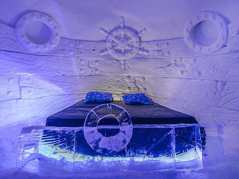 Qué ver en Kirkenes - Laponia Noruega - Cama del Snow Hotel