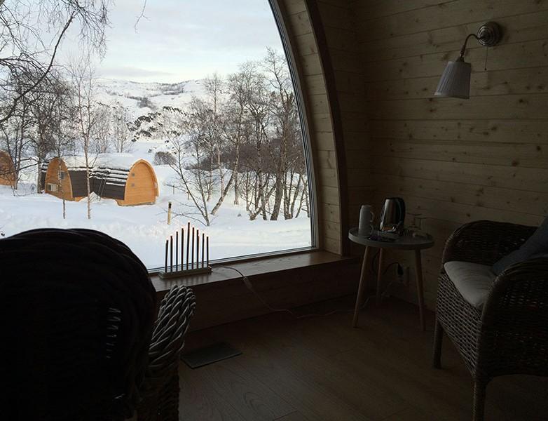 Vistas de las cabinas del Snow Hotel