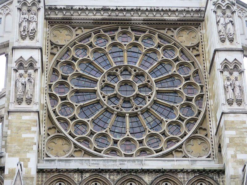 Qué ver en Londres en dos días - Iconos de la ciudad - Detalle de una de las ventanas de la Abadía de Westminster