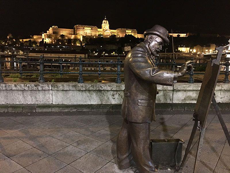 Qué ver en Pest - Budapest - Vistas del Castillo de noche