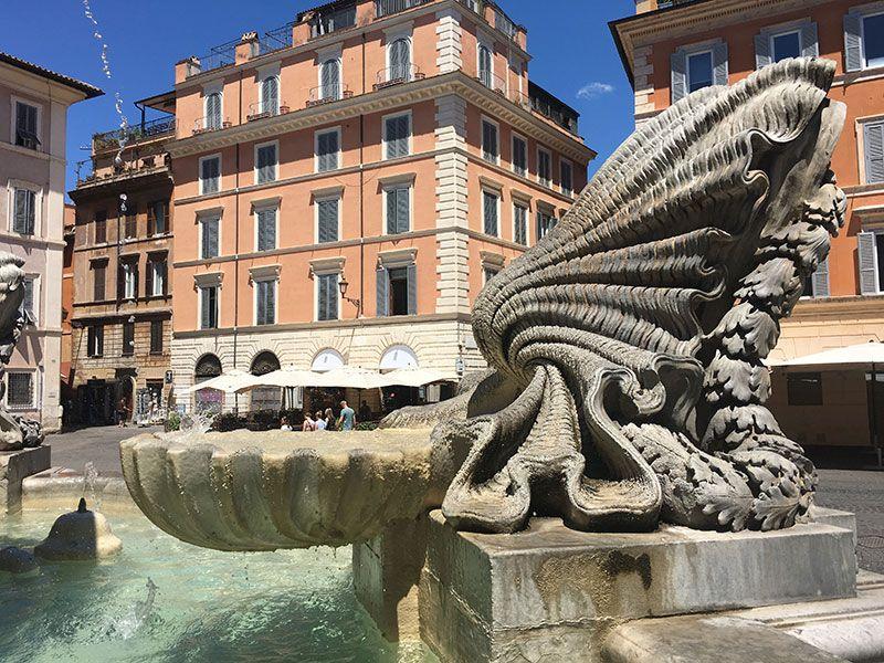 Qué ver en Trastevere - Roma - Detalle de fuente