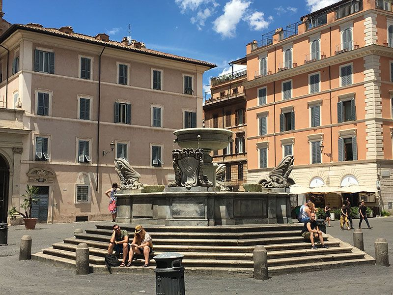 Qué ver en Trastevere - Roma - Plaza Santa Maria