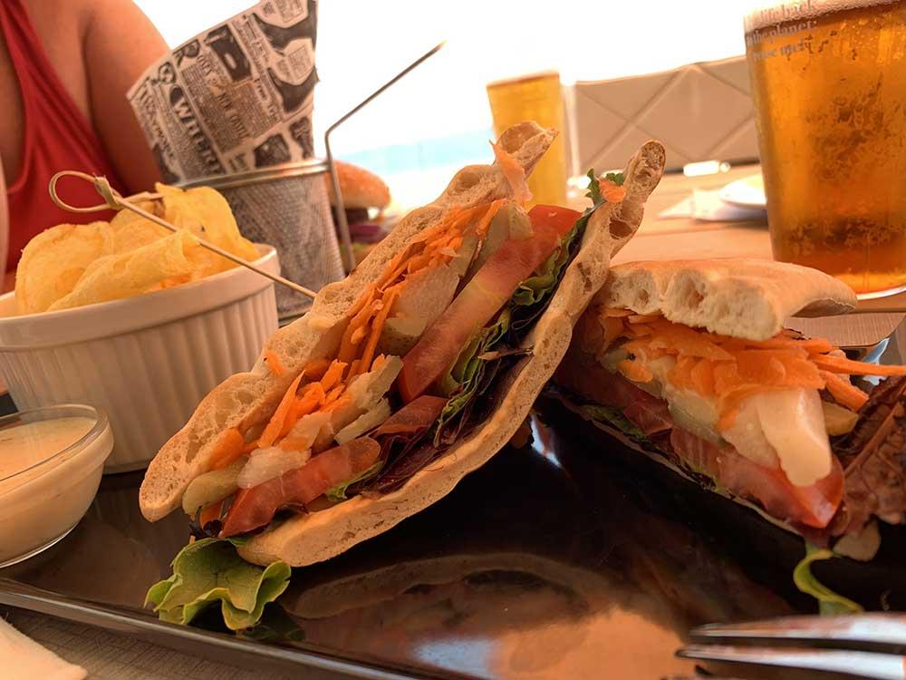 Sandwich del hotel H10 Porto Poniente
