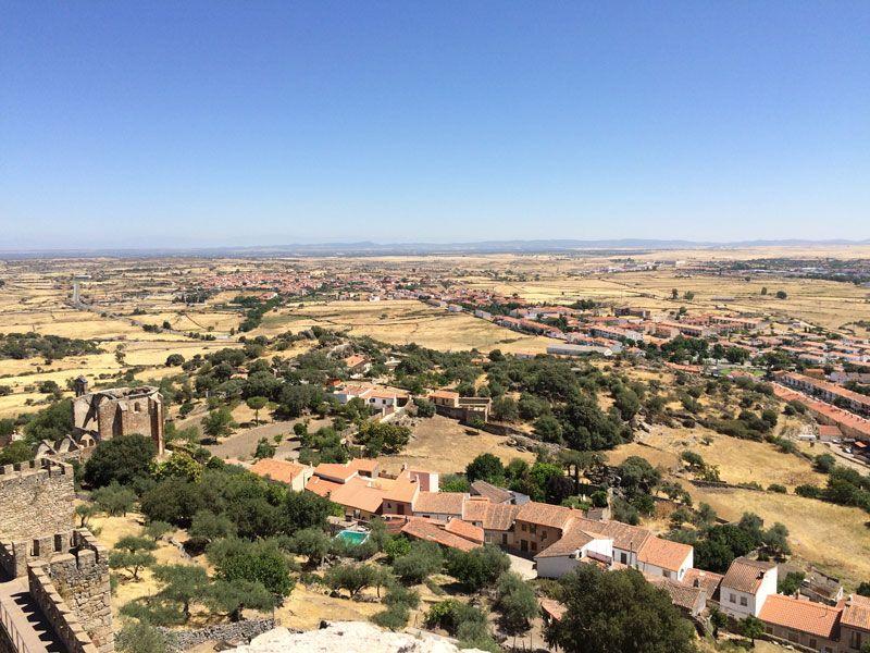 Vistas del entorno de Trujillo desde el castillo