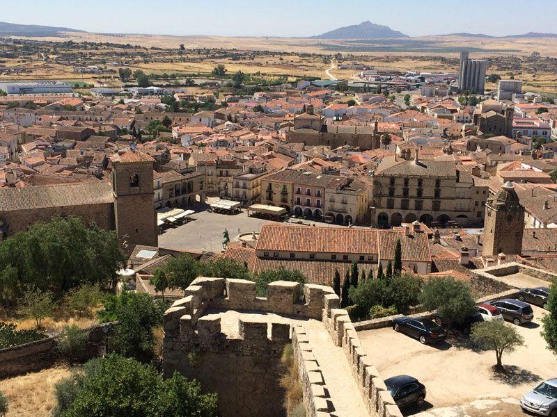 Trujillo desde lo alto del castillo