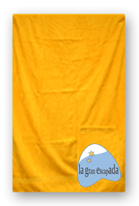 Toalla de playa personalizada con nuestro logo